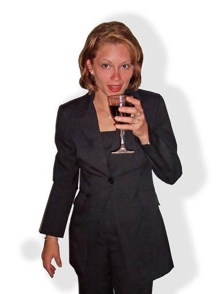 mulher bebendo
