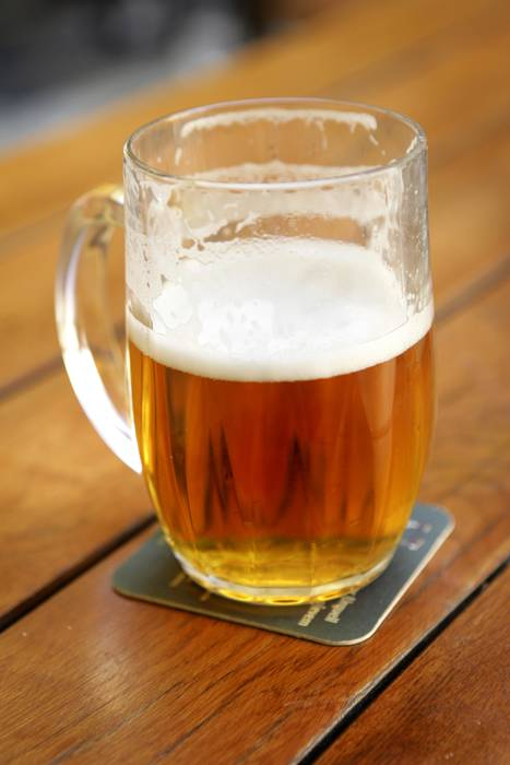 Half-full Beer