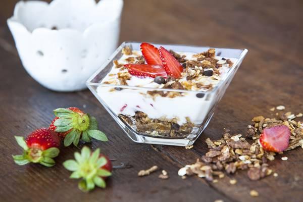 Muslix Chocolate com IoIogurte Natural Mel e Morango