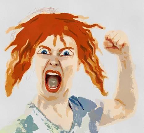 prawny mulher com raiva