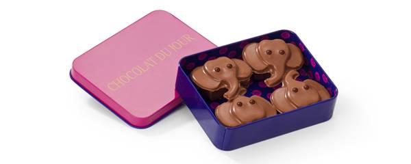 Chocolat du Jour - Lata Elefantinho 80g