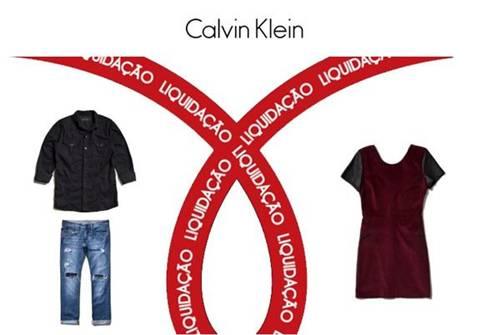 465f43e4e706d calvin klein. A liquidação acontece em todas as lojas próprias e no site.
