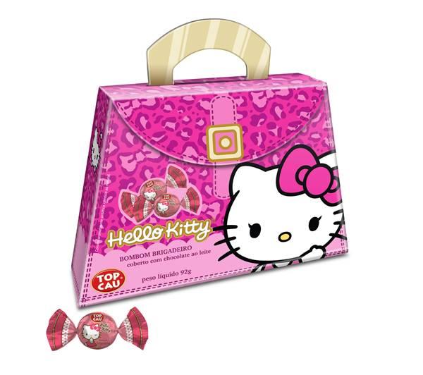 Bolsinha Hello_Kitty (92g) Top Cau_contendo bombom de brigadeiro