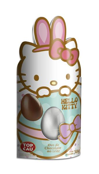 Ovo de chocolate ao leite Hello Kitty Top Cau_(30g)
