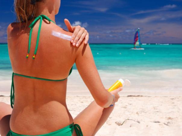 praia sol pele