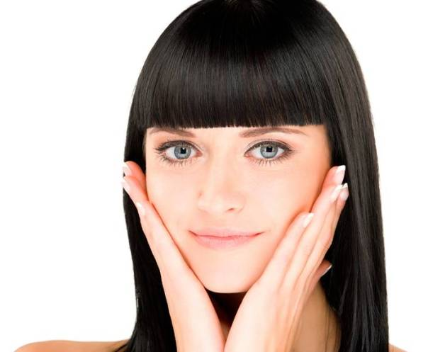 shutterstock pele rosto cabelo franja