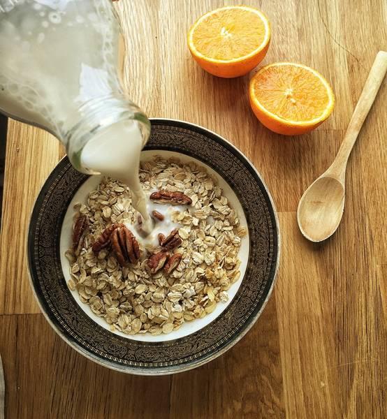 amendoa leite aveia laranja