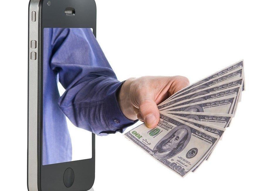 celular dinheiro internet