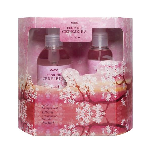 Kit Panvel Flor de Cerejeira-Sabonete Líquido e Body Splash R$3995