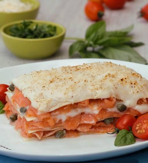 lasanha de salmão