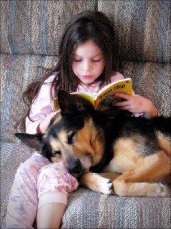 menina e cachorro