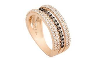 Anel Ouro Rosé Diamantes e Diamantes Brown_ Coleção Lumiere Urbano_ DE 7.990,00 POR 6.392,00