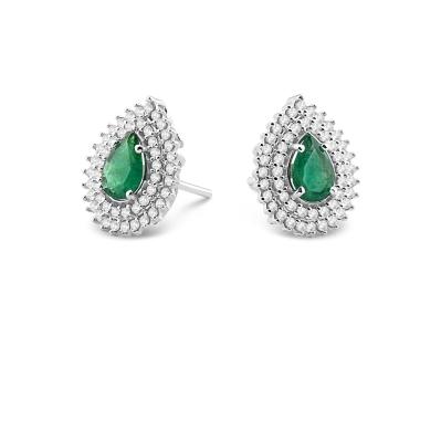 Brinco Ouro Branco Esmeraldas e Diamantes_ Coleção Boreal_ DE 6.850,00 POR 6.165,00