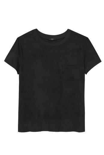 Camiseta suede gola tricot R$199 por R$99