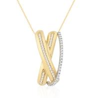 Pingente Ouro Branco, Ouro Amarelo e Diamantes_ Coleão Waves DE 3.550,00 POR 2.485,00