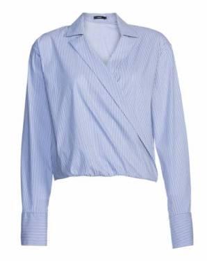 Camisa transpassada listrada de R$189,90 por R$129,90