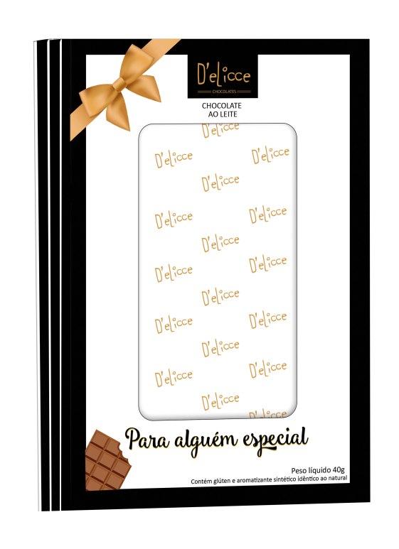 01-4265514 CARTAO CHOCOLATE AO LEITE 40G DELICCE