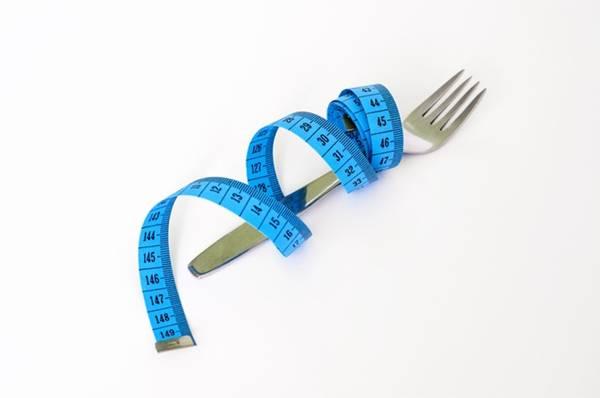 fome dieta garfo fita metrica