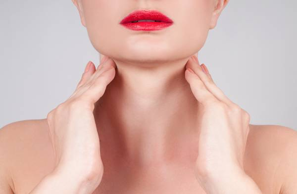 Anti-aging treatment. Beautiful woman neck