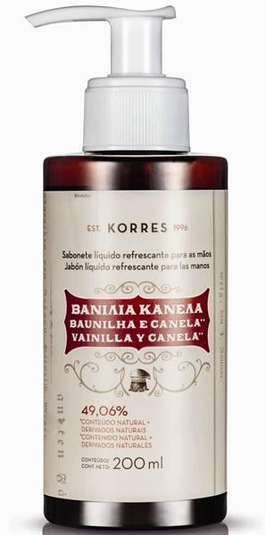Korres - Sabonete Líquido para as mãos - Baunilha e Canela - R$ 29