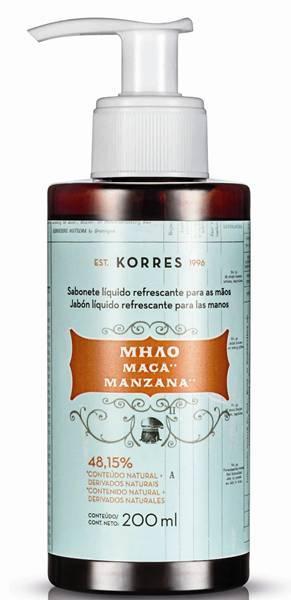 Korres - Sabonete Líquido refrescante para as mãos - Maça - R$ 3900