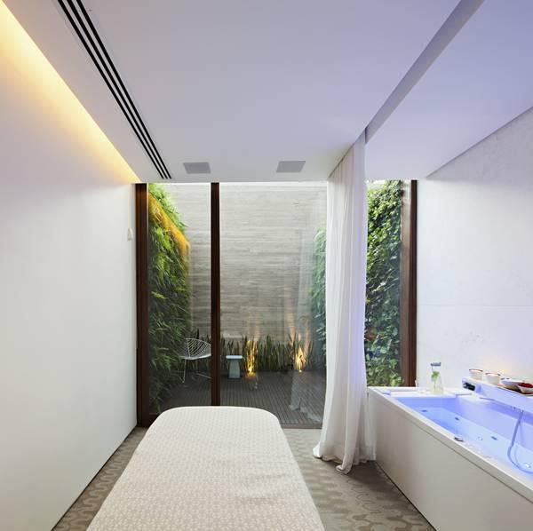 Sala do Aigai Spa para banhos de imersão