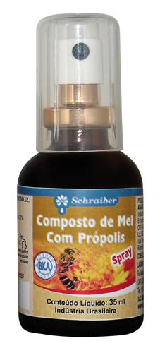 Spray Composto de Mel com Própolis