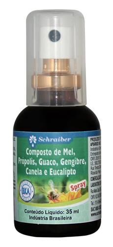 Spray Composto de MelPrópolisGuacoGengibre
