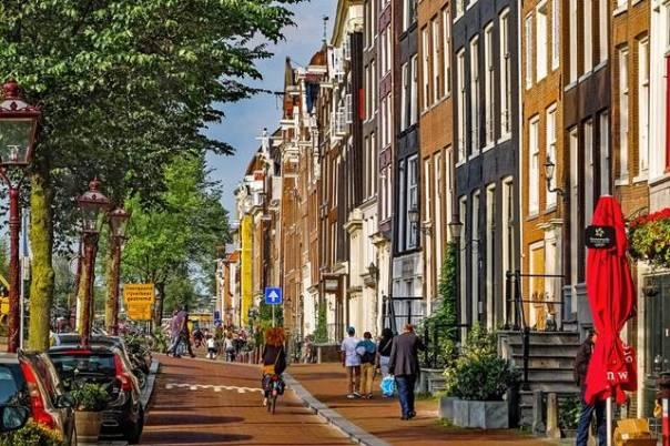 amsterdam rua bicleta pixabay