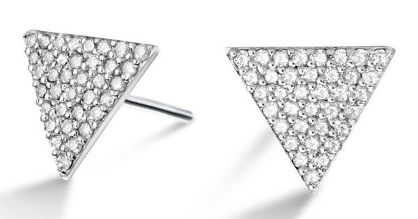 Vivara - Brinco em ouro branco com diamantes R$2.690,00 II