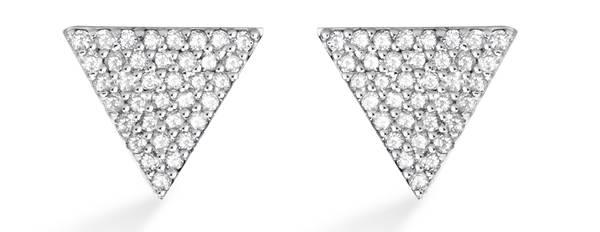Vivara - Brinco em ouro branco com diamantes R$2.690,00