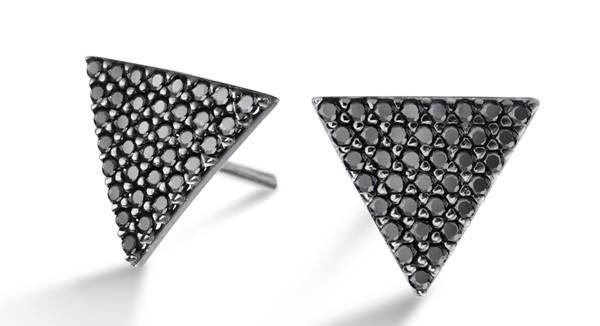 Vivara - Brinco em prata com safiras negras R$690.00 II