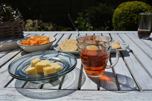 chá lanche queijo