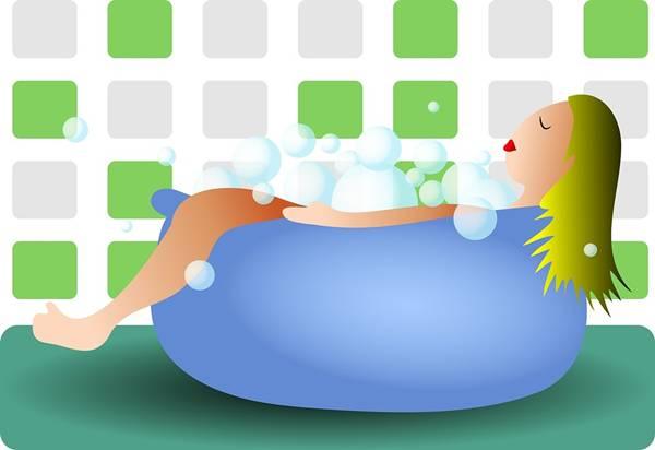 desenho mulher banheira banho prawny pixabay