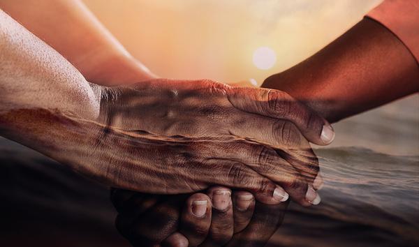 mãos amizade solidariedade