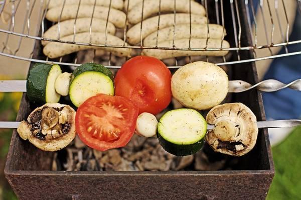 churasco de vegetais pixabay
