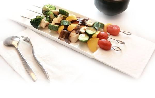 espetinho de vegetais pixabay