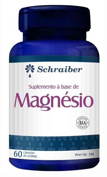 Magnésio - Schraiber - 60caps 650
