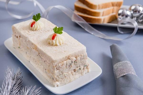 torta festiva de pão