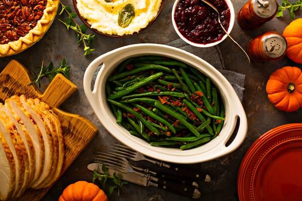 alimentação ceia carne legumes