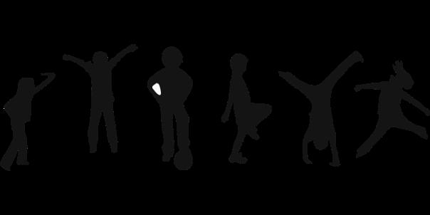 crianças exercícios ginástica clker-free pixabay