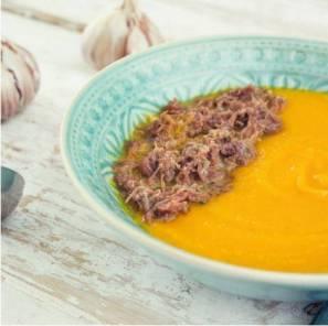 sopa de abobora com carne