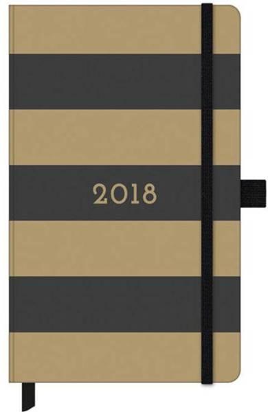 Submarino_Agenda 2018 Semanal Gold Kraft Dourada 4432 Otima