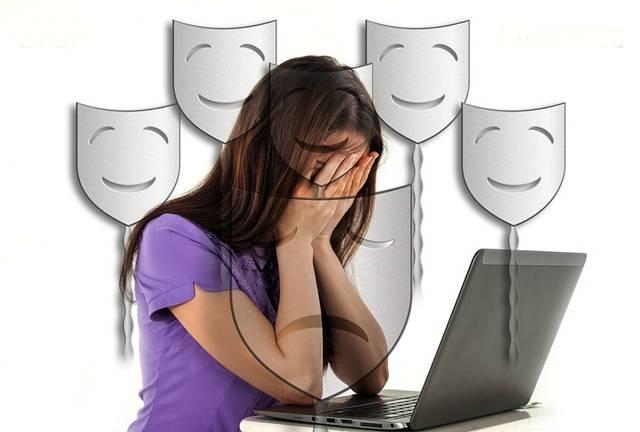 bullying menina computador