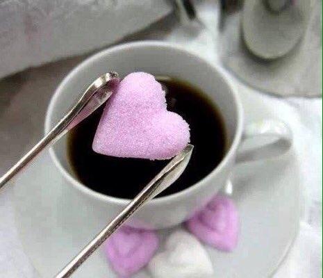 café açúcar rosa