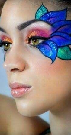 maquiagem carnaval guache