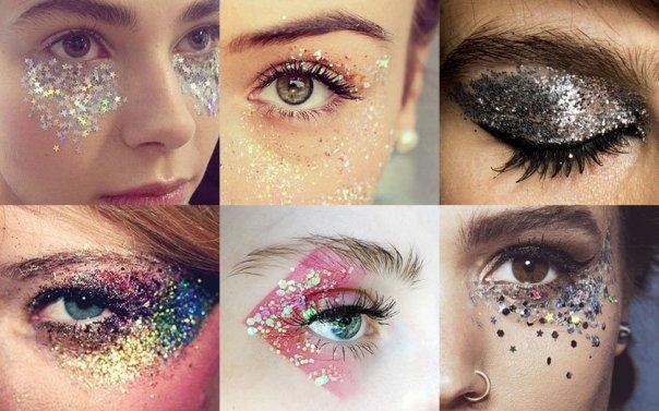 olhos maquiagem brilho carnaval