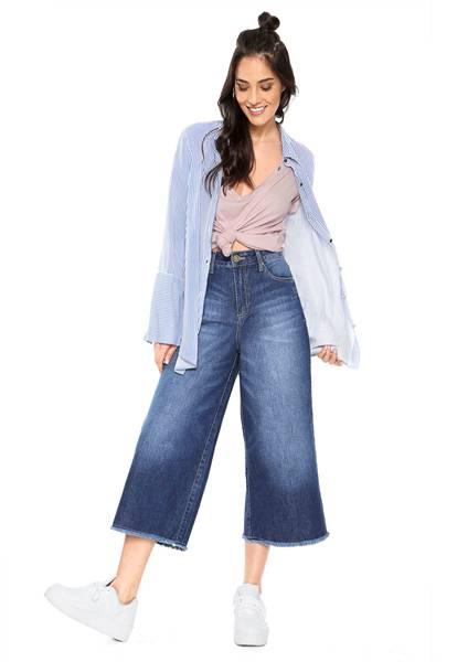 Calça Jeans e Cropped Beatrice Azul Zoomp na DAFITI