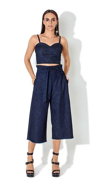 Calça jeans Pantacourt Clochard na MORENA ROSA