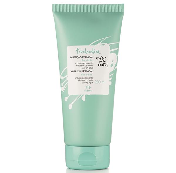 Mousse Desodorante Hidratante de Banho Tododia Flor de Lis